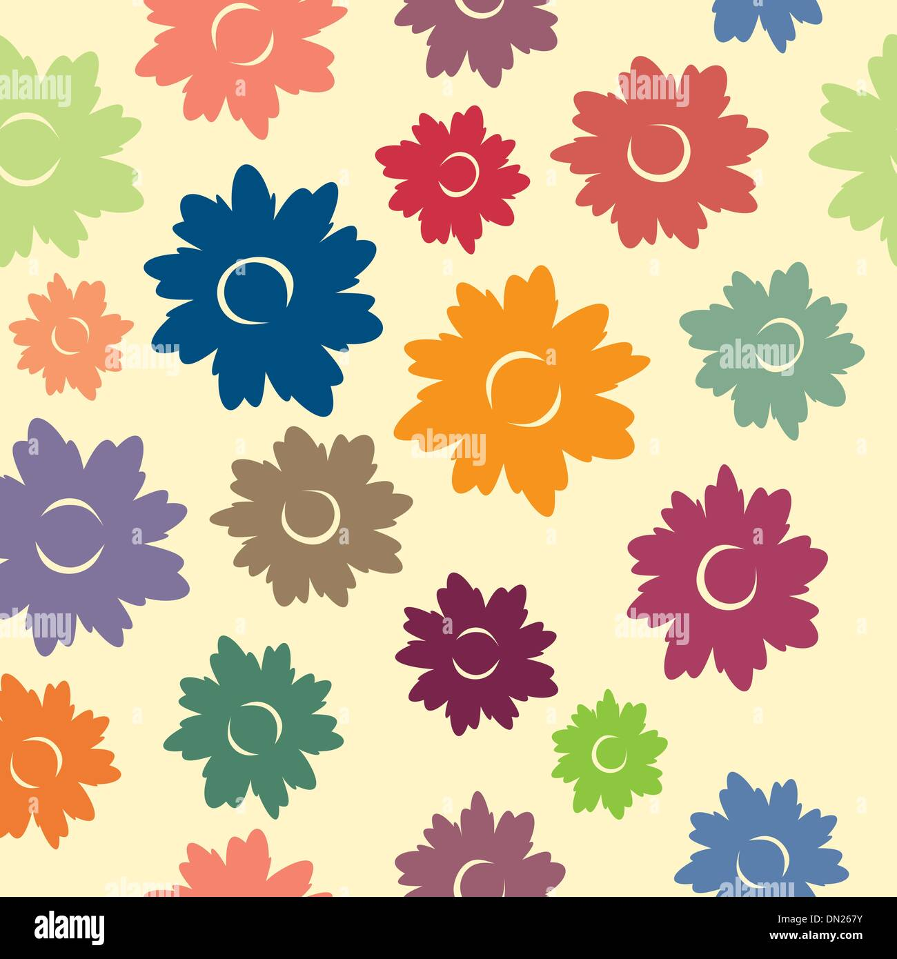 Floral Seamless Pattern Stock Vektor