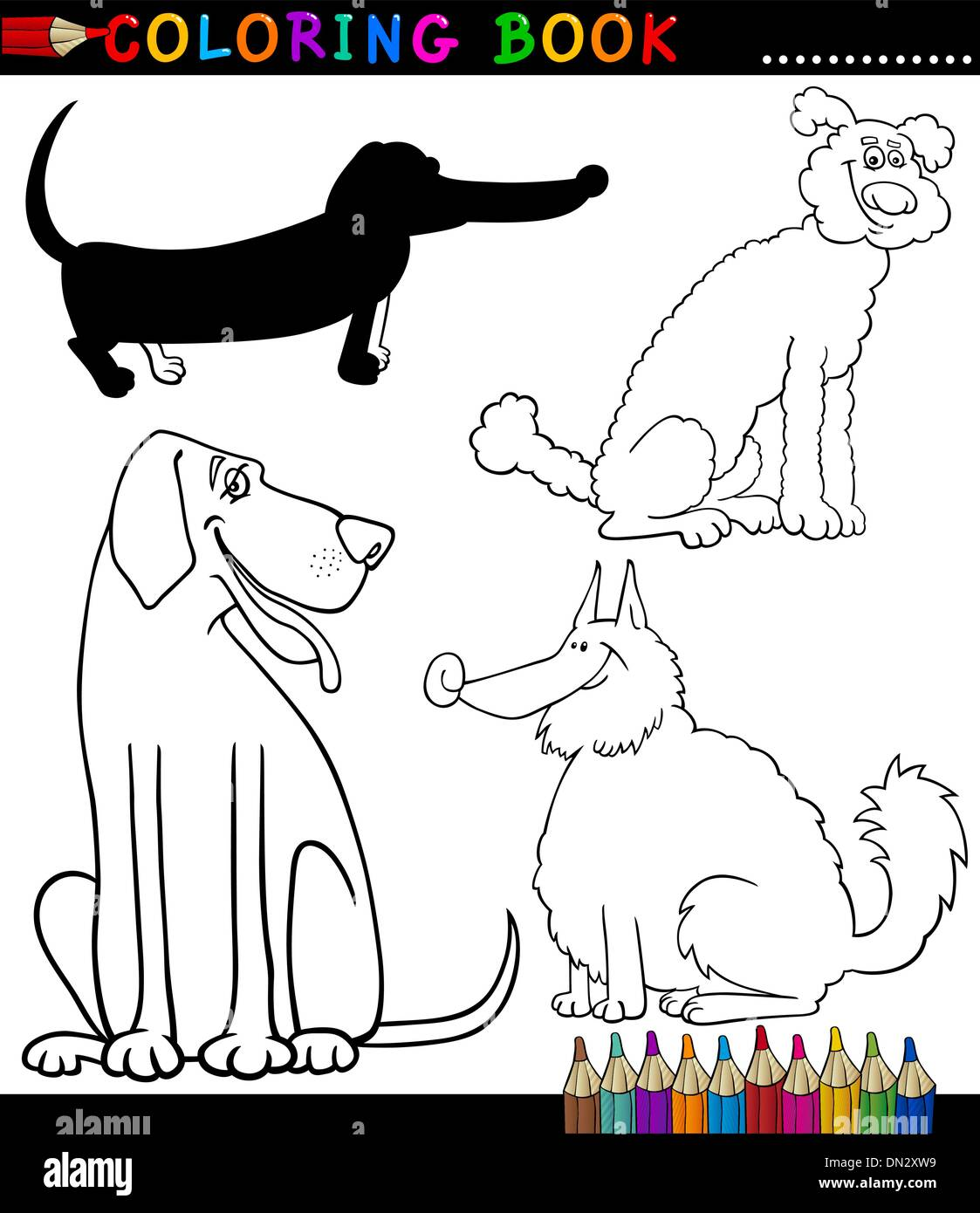 Spitz Dog Cartoon Illustration Stockfotos & Spitz Dog Cartoon ...