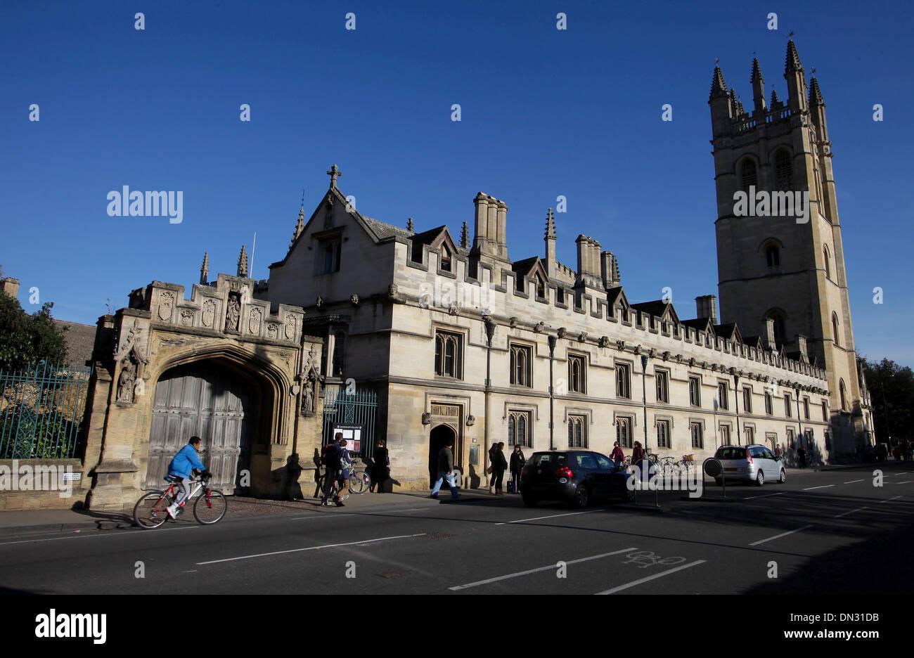 GV des historischen Gebäudes der Universität Oxford. Stockbild