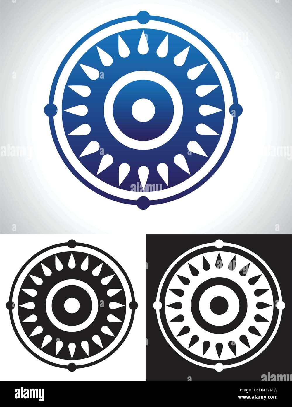 Mandala-Symbolik Stockbild