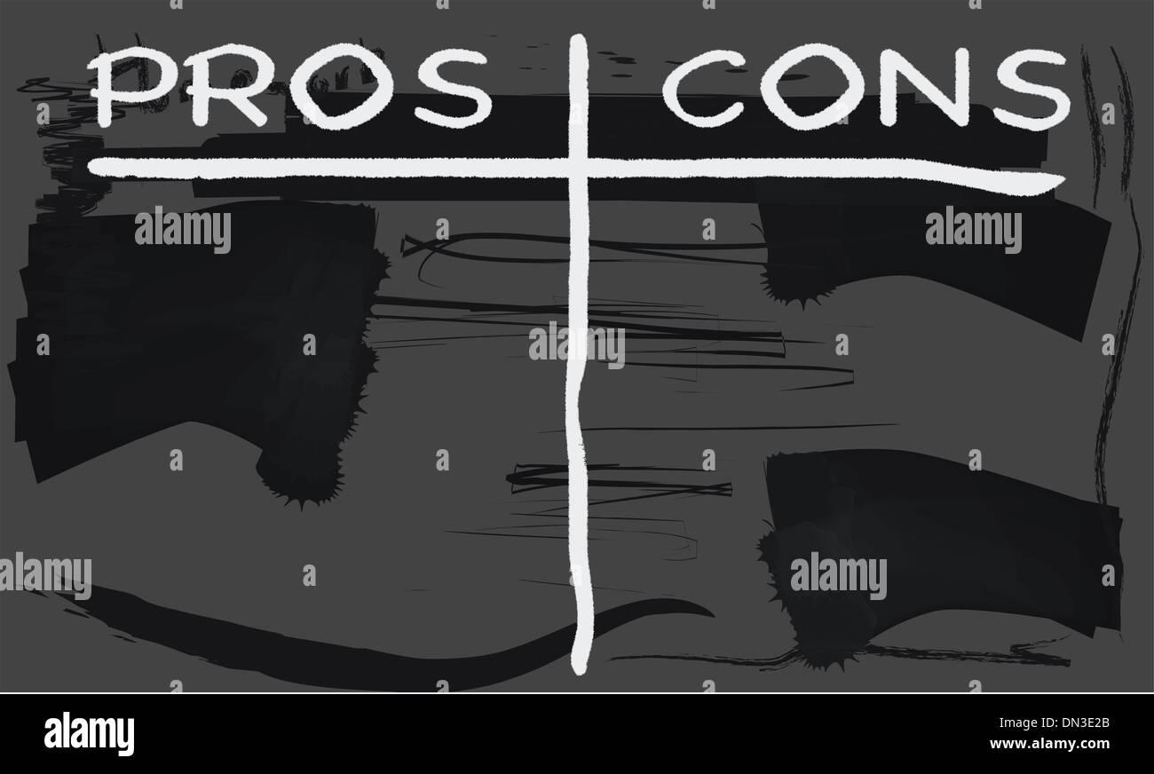 Pros cons stockfotos pros cons bilder alamy