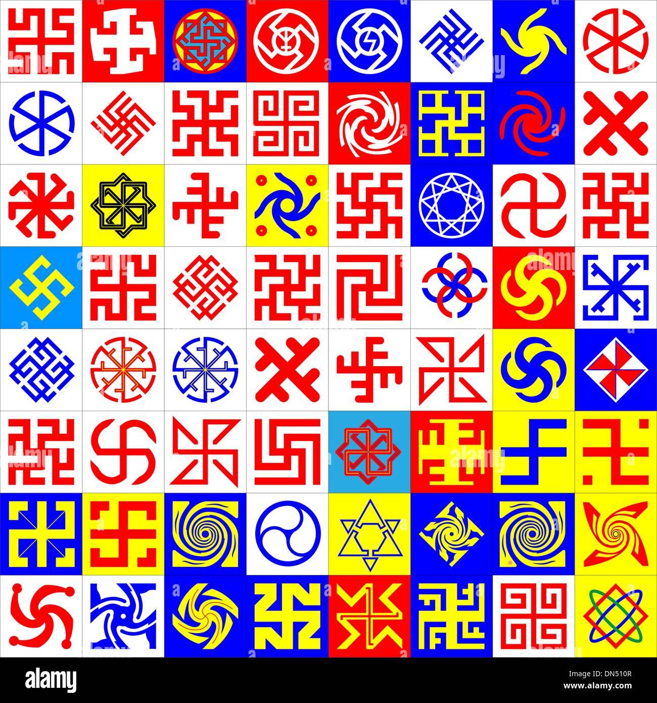 Runen. Okkulte Symbole Stockbild