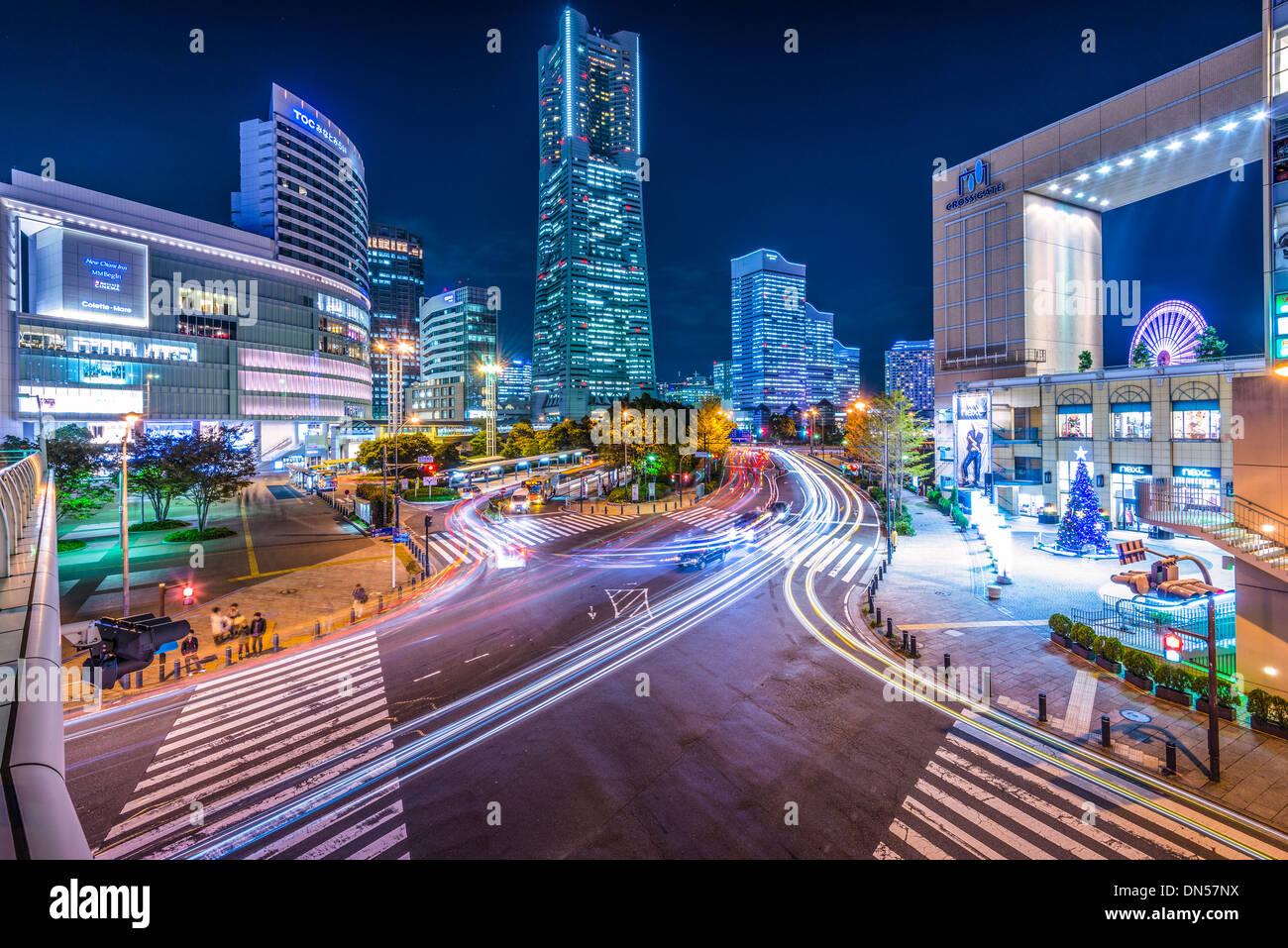 Yokohama, Japan Stadtbild. Stockbild