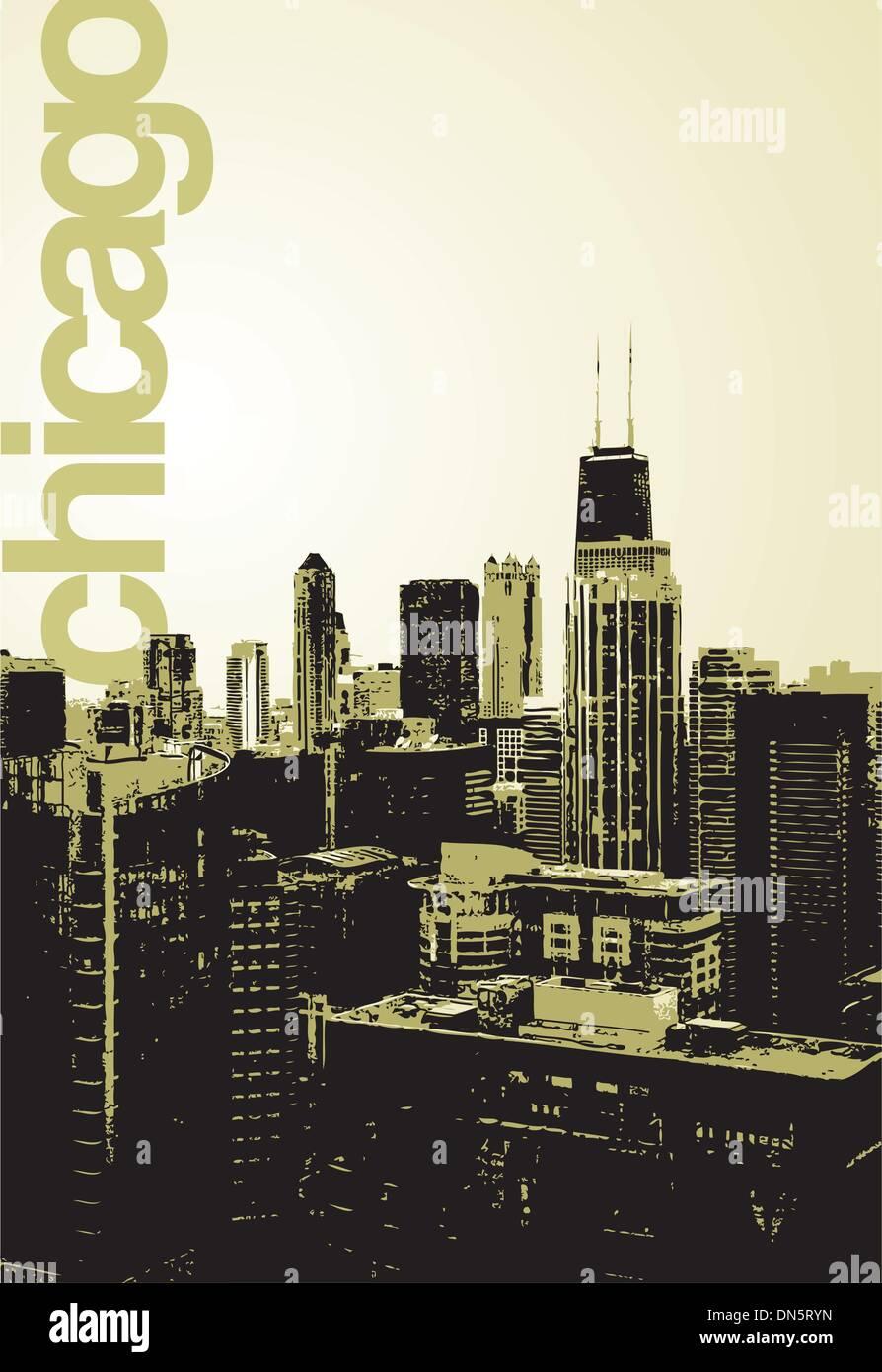 Chicago - alternative skyline Stockbild