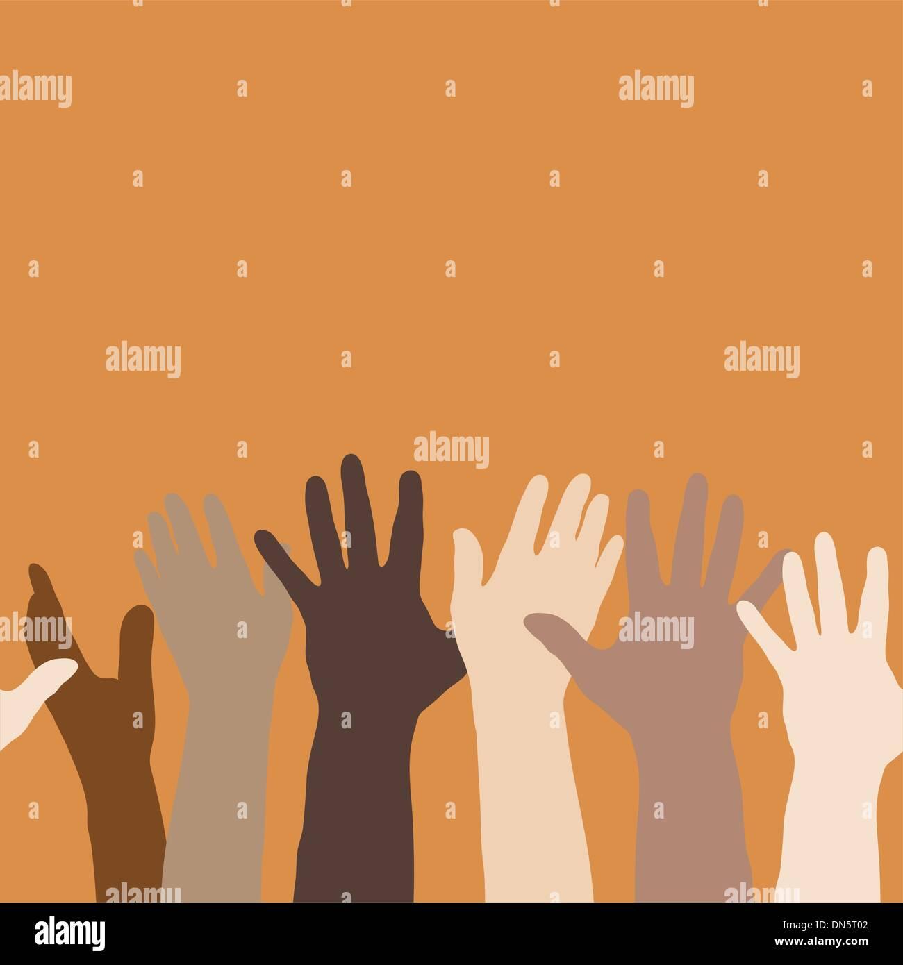 Handzeichen (horizontal nahtlose) Stockbild