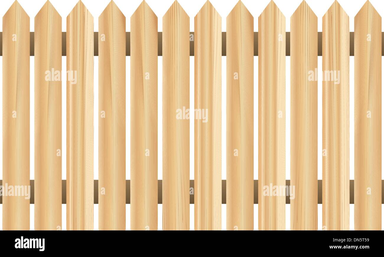 Holzzaun (horizontal nahtlose) Stockbild