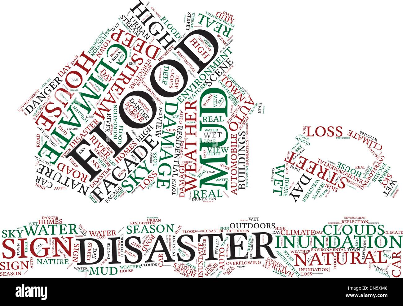 Symbol-Piktogramm-Vektor-Illustration zu überfluten. Stockbild
