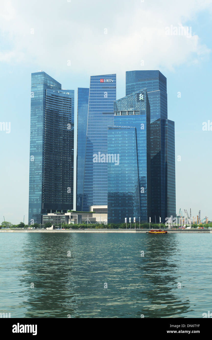 Marina Bay Financial Center. Singapur. Stockbild