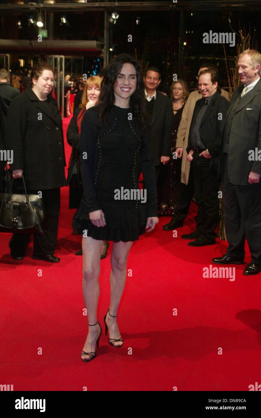 "12. Februar 2002 - Jennifer Connelly.at die Premiere von ""Beautiful Mind"". Filmfest Berlin, 2/12.© Alec Michael 2002.All Rechte vorbehalten (Kredit-Bild: © Globe Photos/ZUMAPRESS.com) Stockbild"