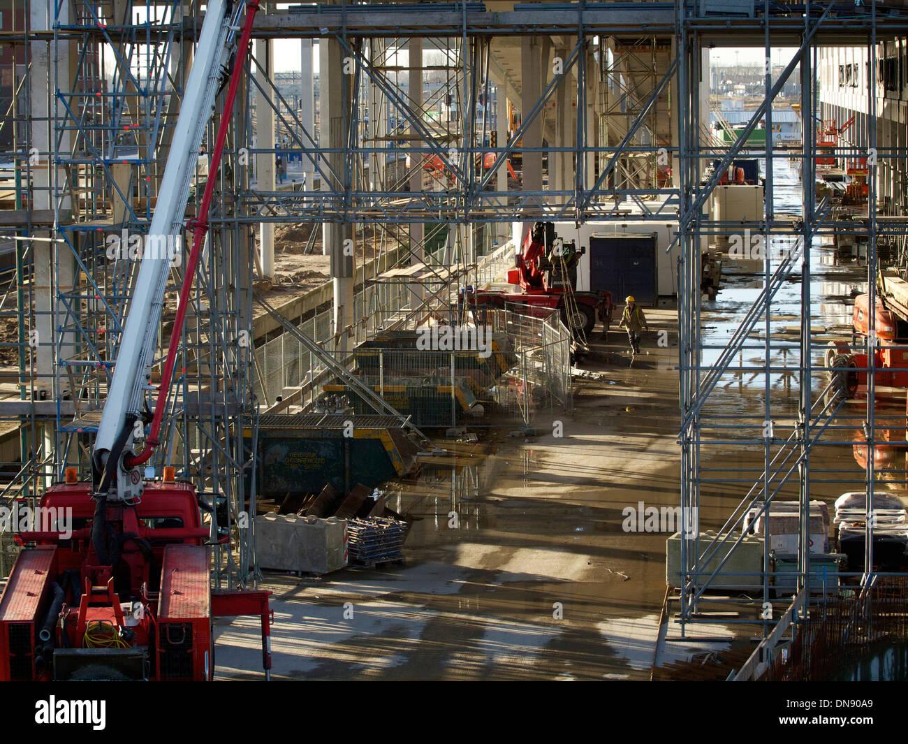 Bau der neue Hauptbahnhof Breda, Niederlande Stockfoto