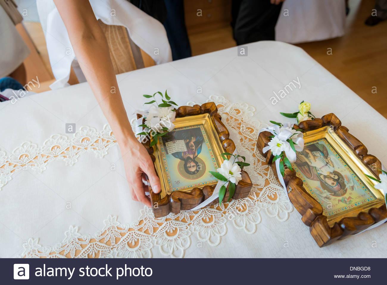 Orthodoxe Hochzeit Symbol Geschenke für Braut und Bräutigam ...
