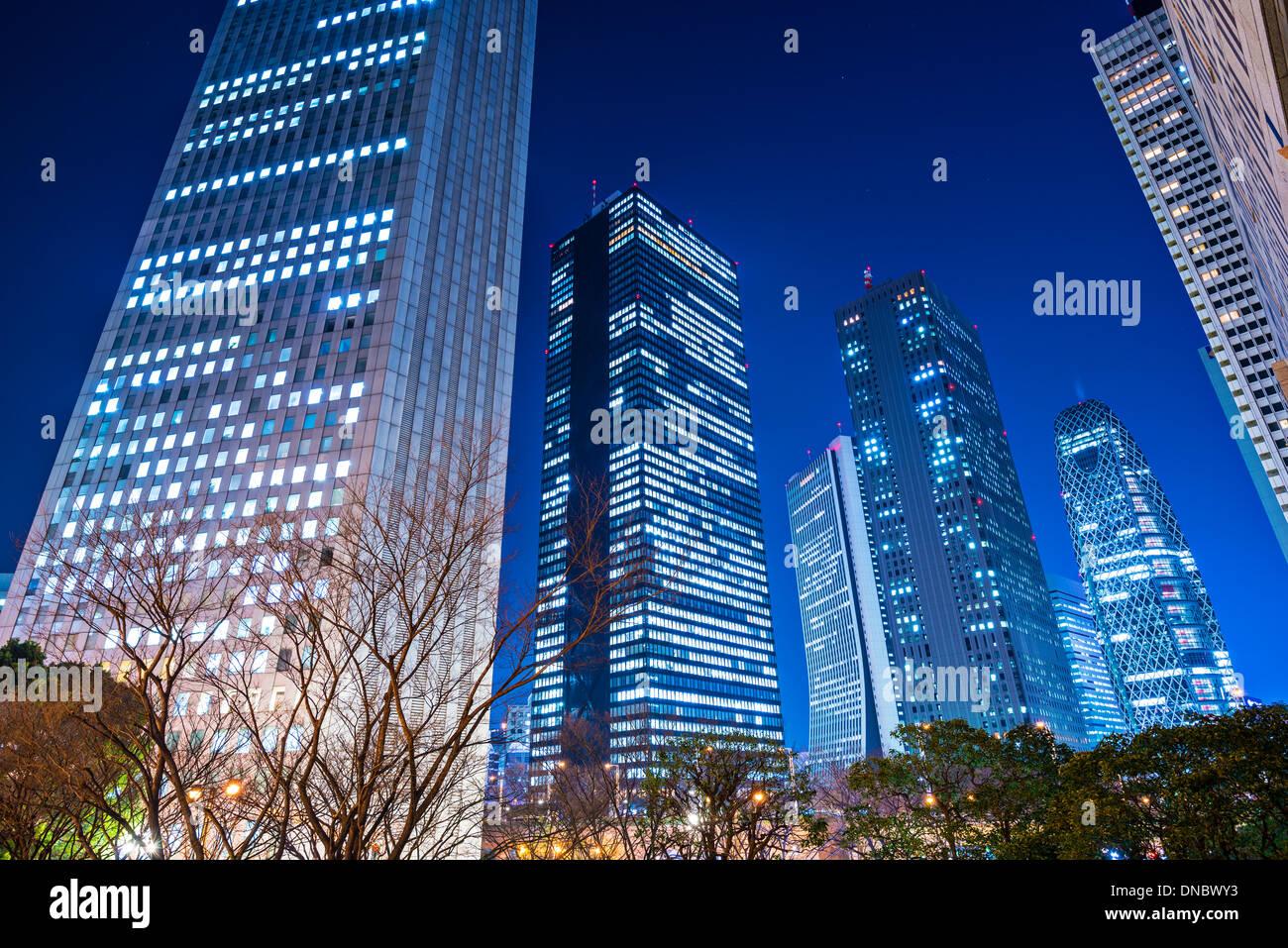 Shinjuku, Tokio, Japan Stadtbild bei Nacht. Stockbild