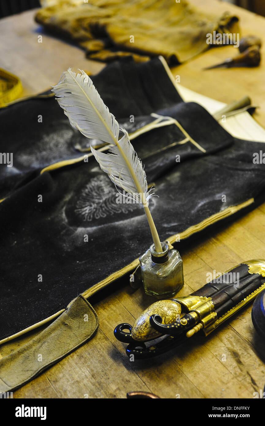 Produktion, Lederhose Stockbild