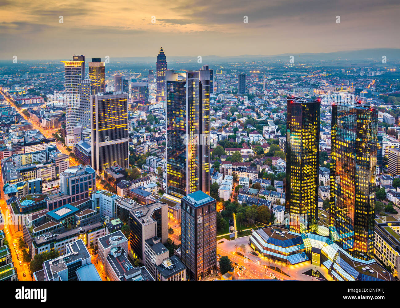 Frankfurt am Main Luftbild Stockbild