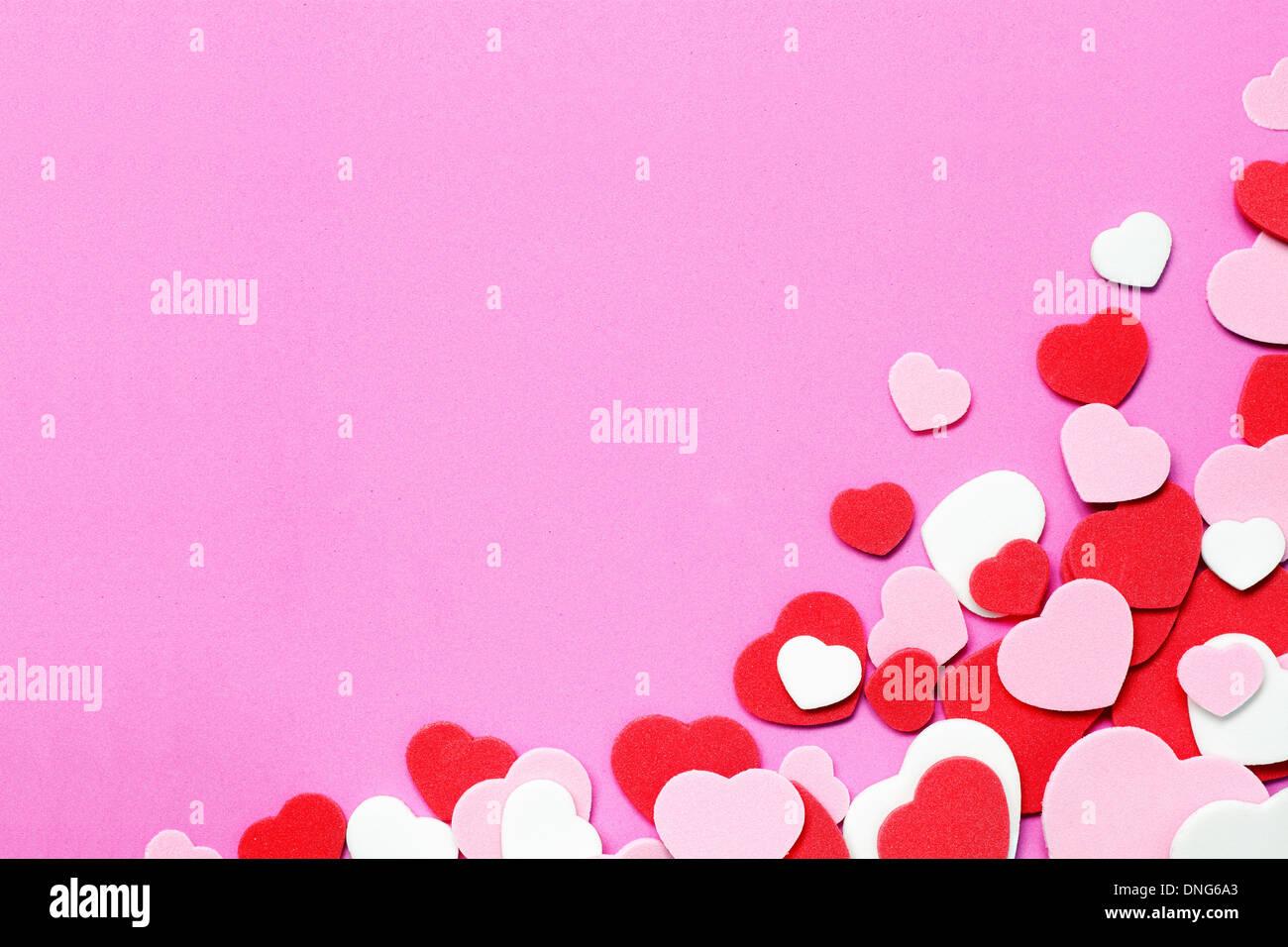 Herzen Hintergrund Stockfoto