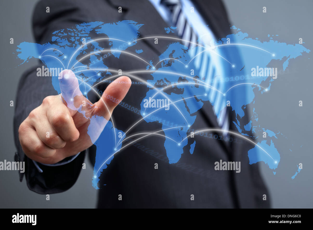 Globales Kommunikationsnetz Stockbild