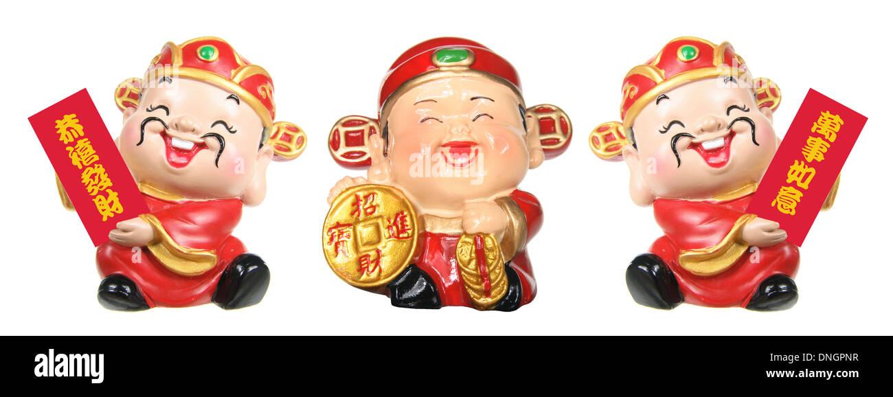 Gott des Wohlstands Figuren Stockbild