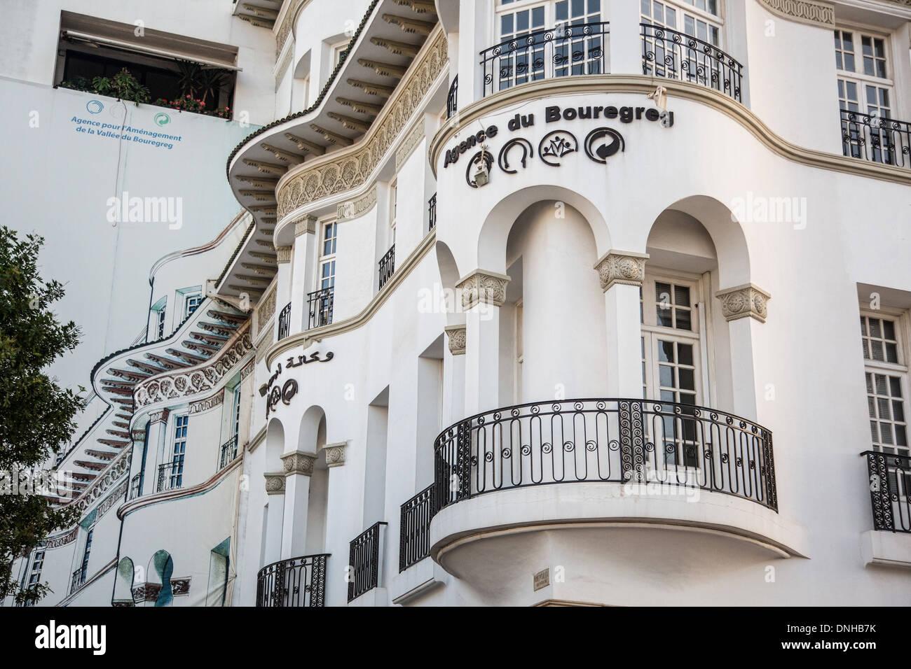 Deco Architektur trompe l œil gemalt auf einem gebäude erweitern die angrenzenden