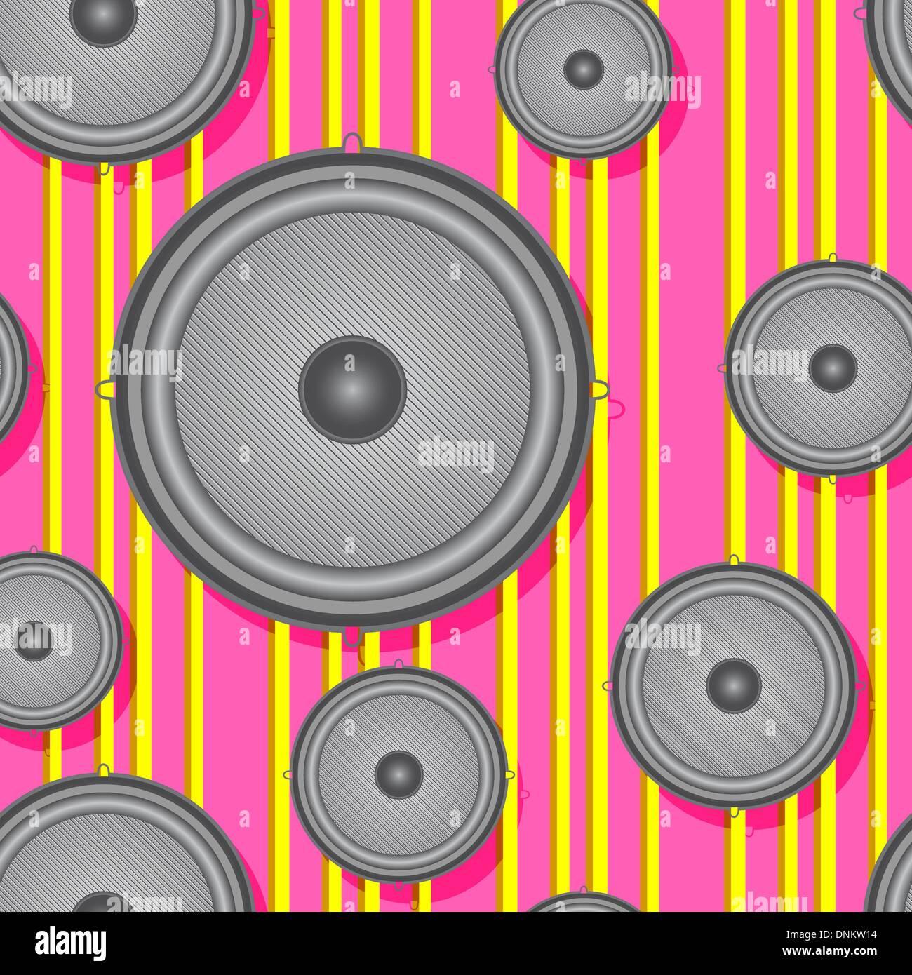 Lautsprecher nahtlose Hintergrund. Vektor-Illustration. Stockbild