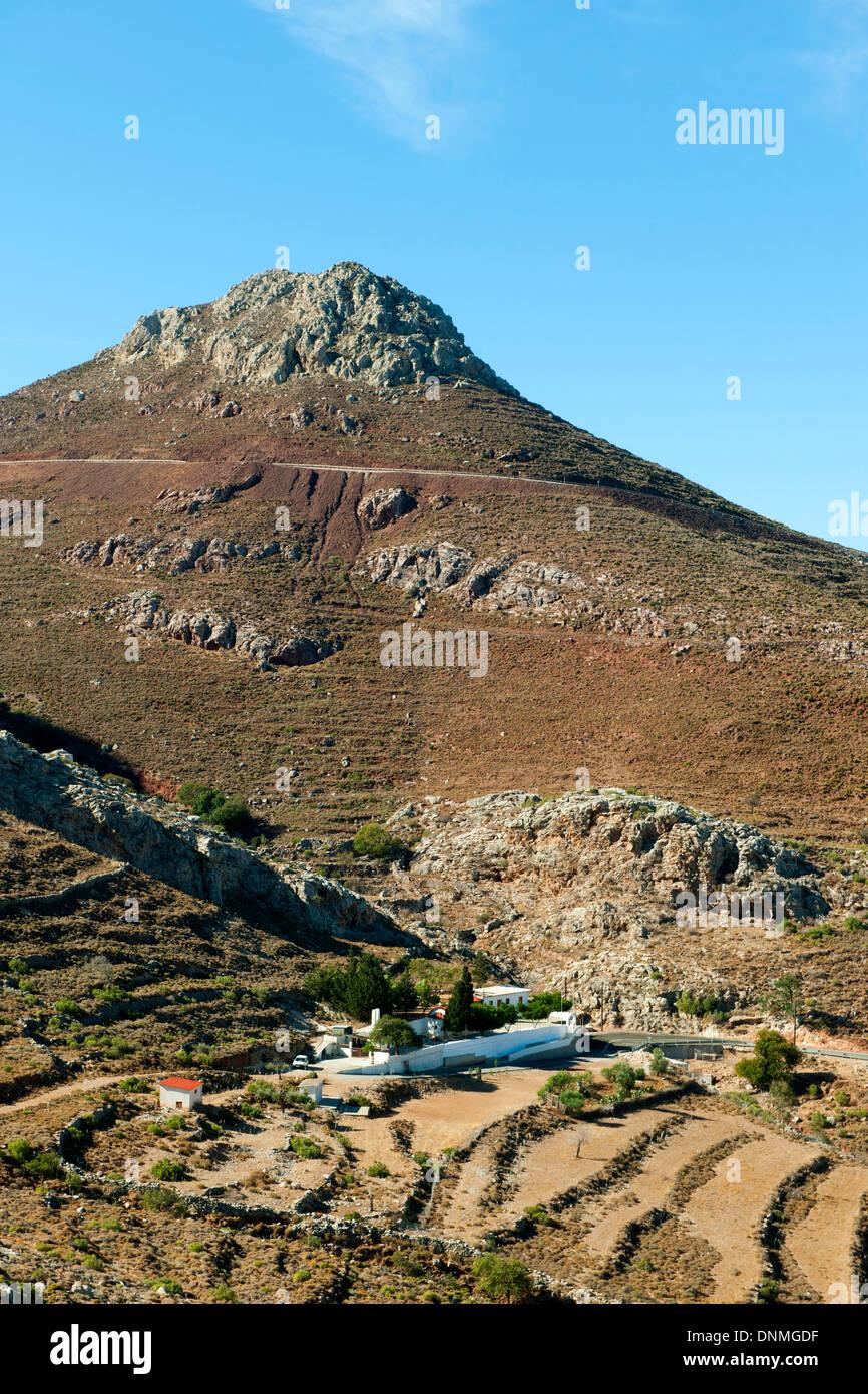 Griechenland, Insel Tilos Bei Livadia, Panagia Politissa Stockbild