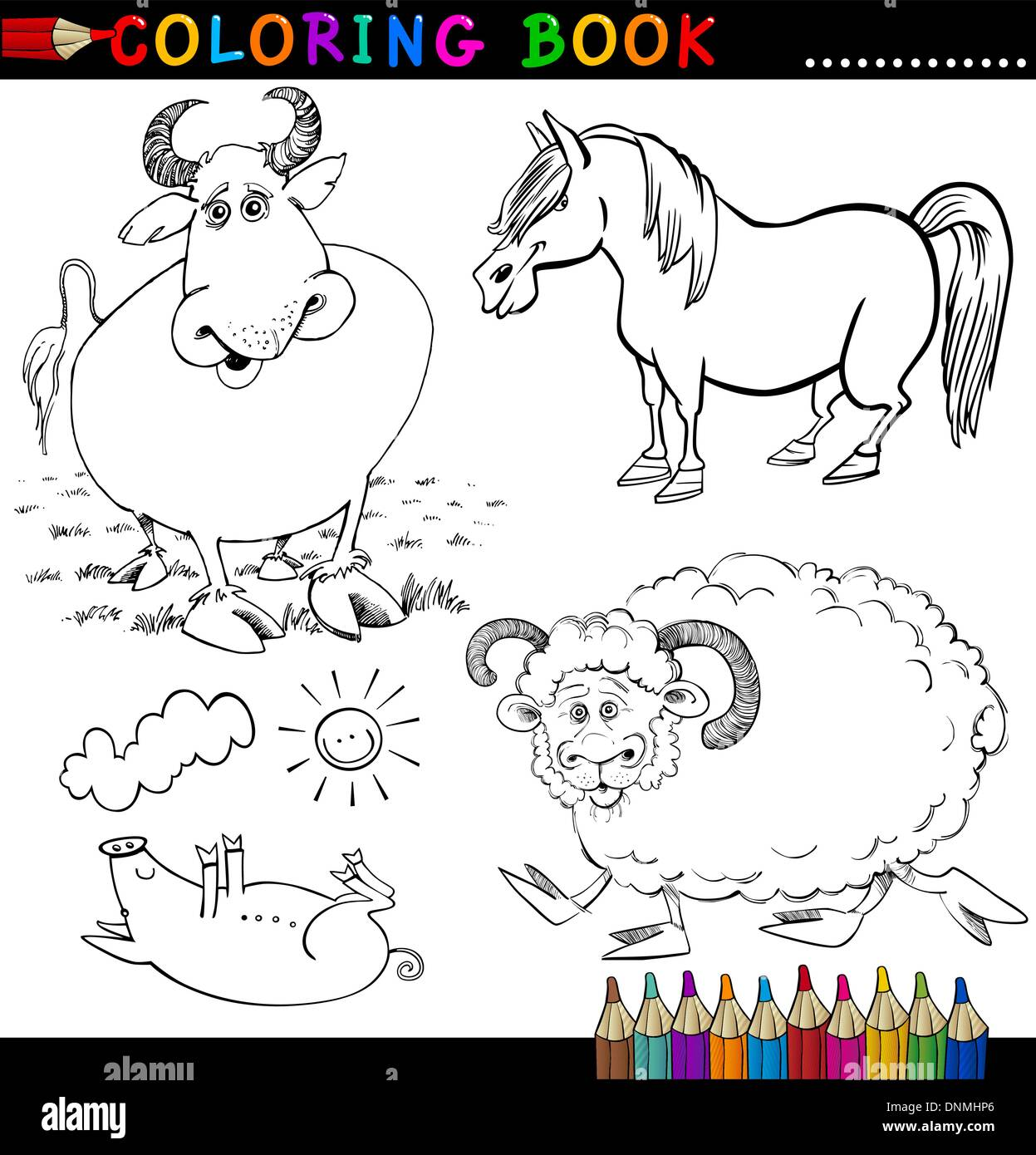 Gemütlich Tiere Auf Der Farm Färbung Seite Zeitgenössisch - Framing ...