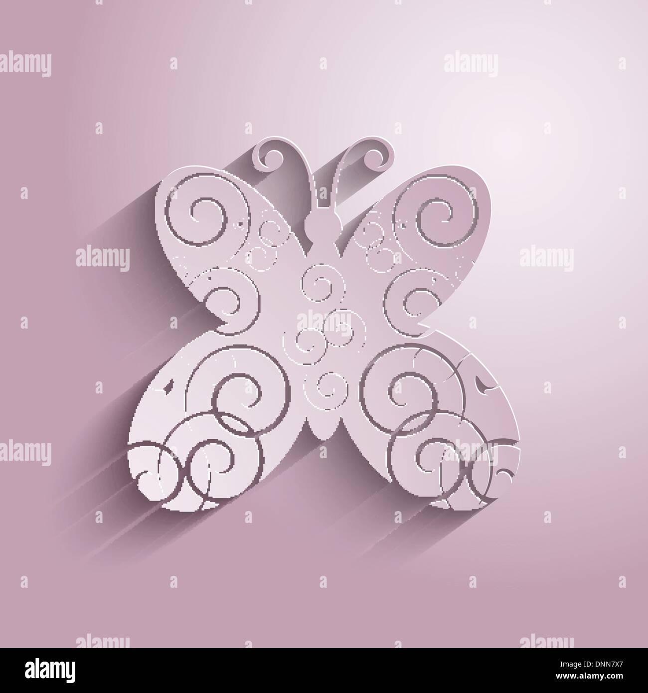 Dekorativer Hintergrund mit einem Schmetterling-design Stockbild