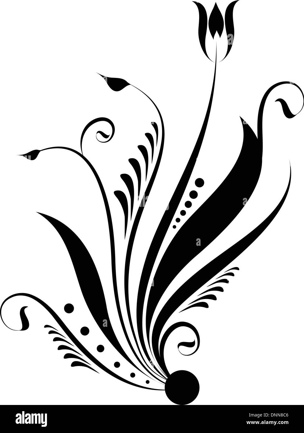 Abstraktes dekoratives design Stockbild