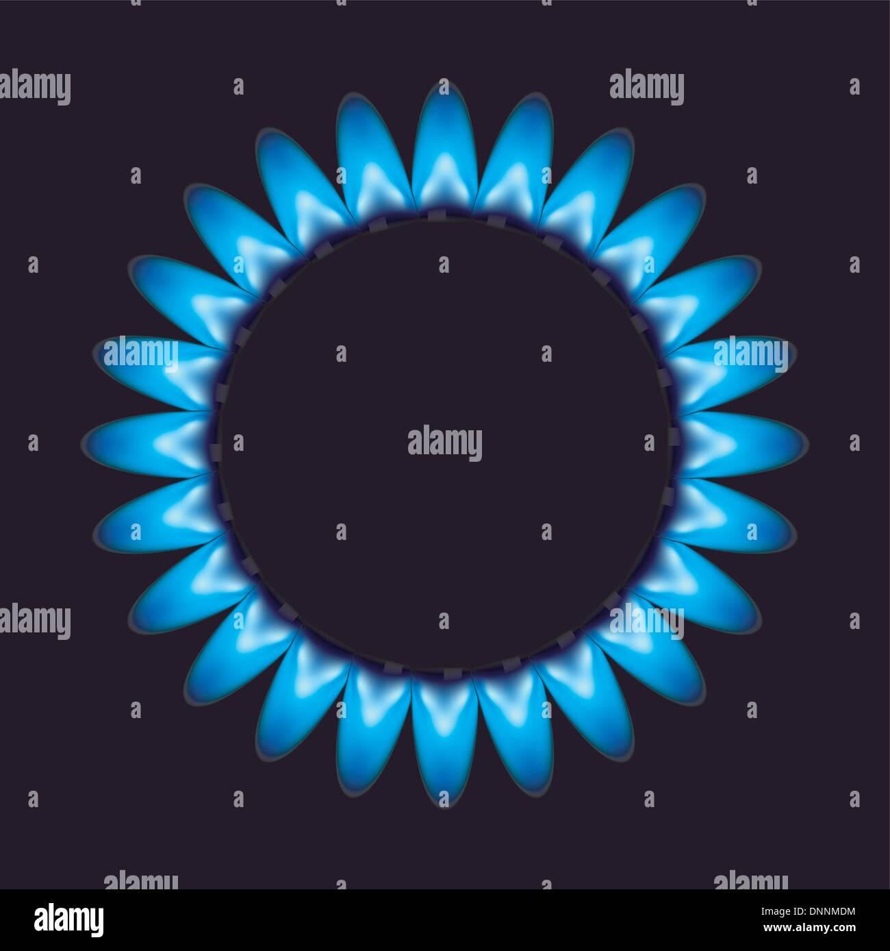 Vektor-Flammen Gas. Stockbild