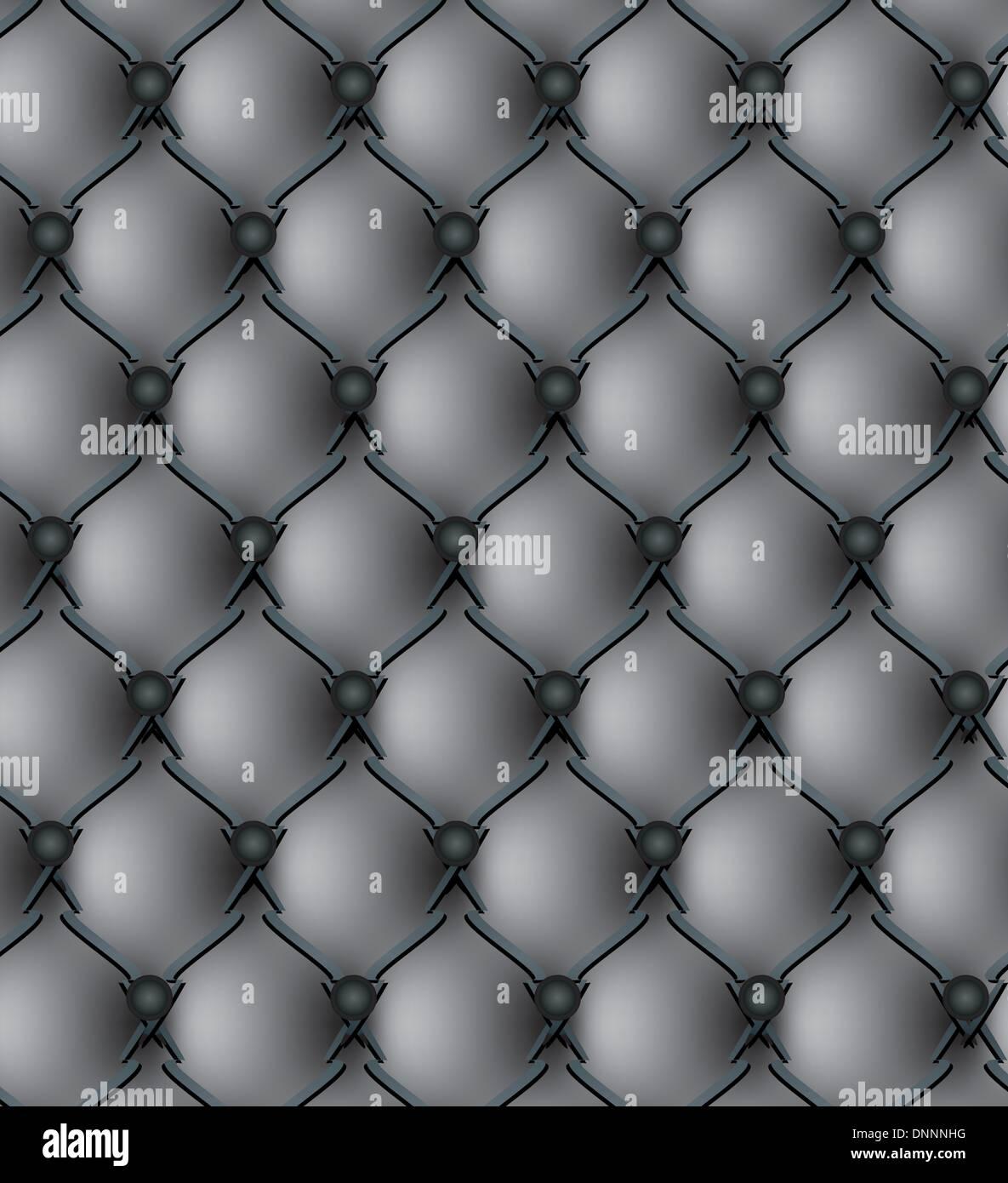 Schwarzes Echtleder-Polster-Muster-Vektor-illustration Stockbild