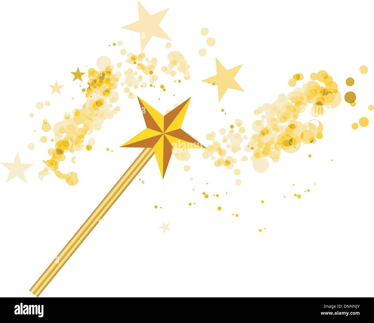 Sternen-Zauberstab für Kinder und Erwachsene Gold
