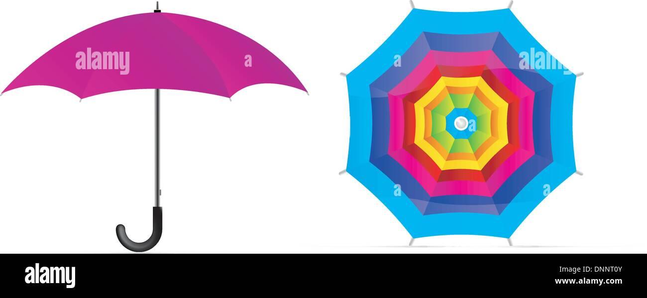 Vektor-Regenschirm Stockbild