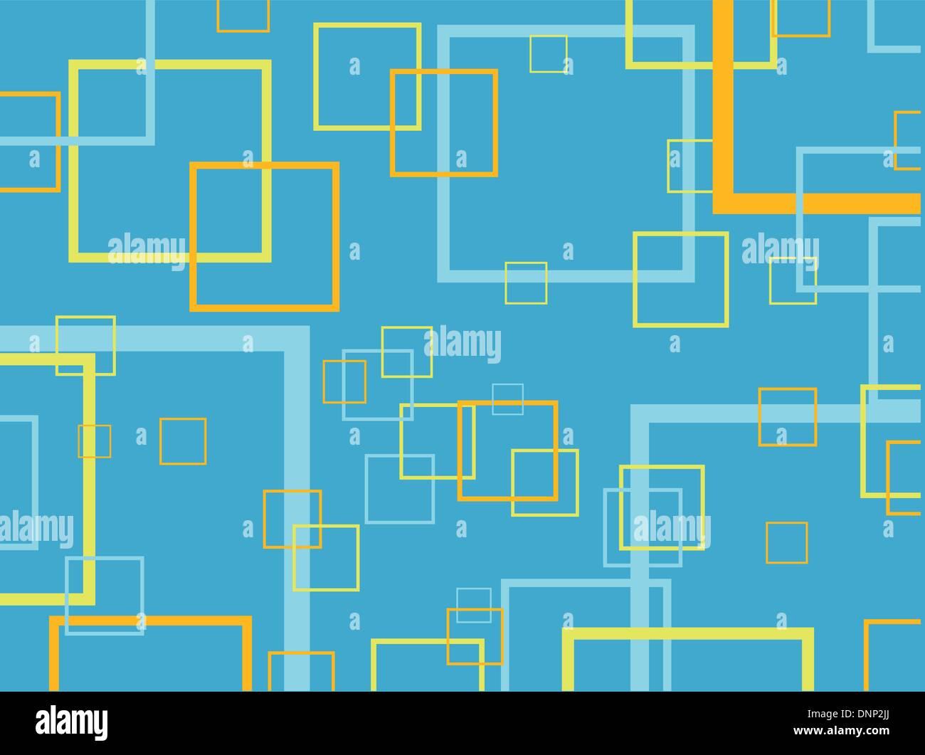 Retro-Vierecke-Hintergrund Stockbild