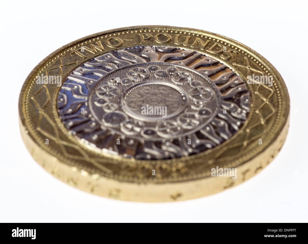 Britische Zwei Pfund Münze Stockfoto Bild 65034028 Alamy