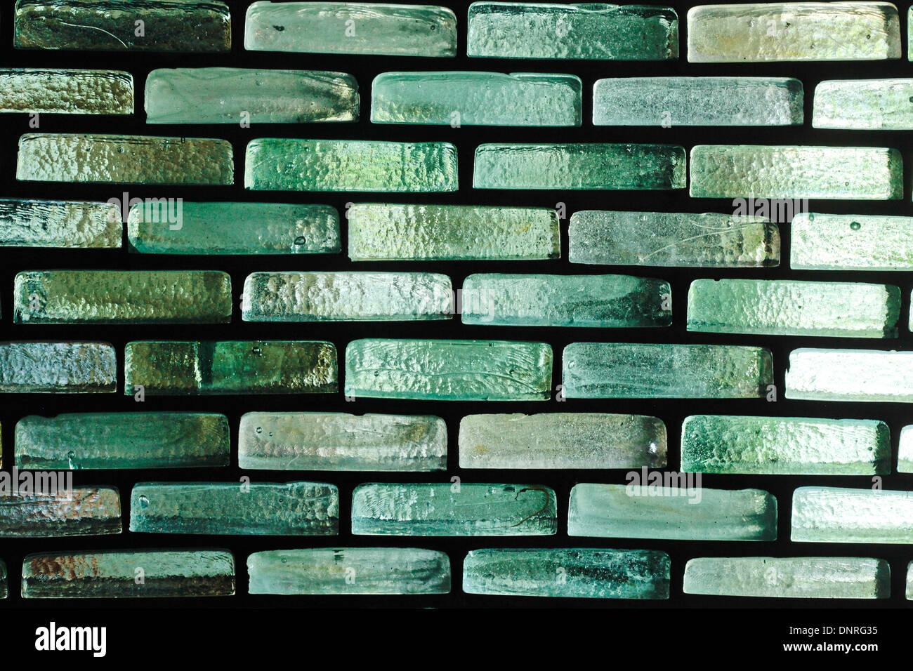 Wand aus Glasbausteinen als Hintergrund Stockfoto, Bild: 65056409 ...