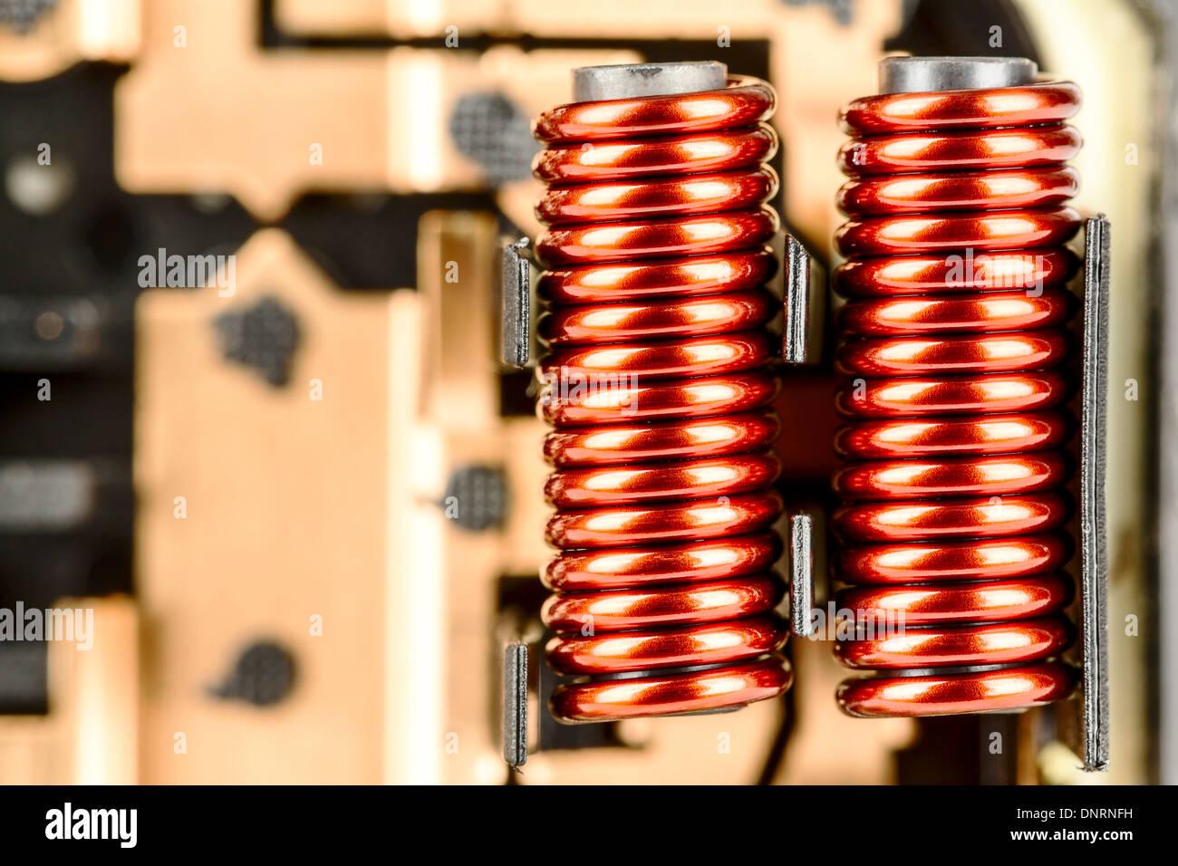 Eine elektrische Spulen Stockbild