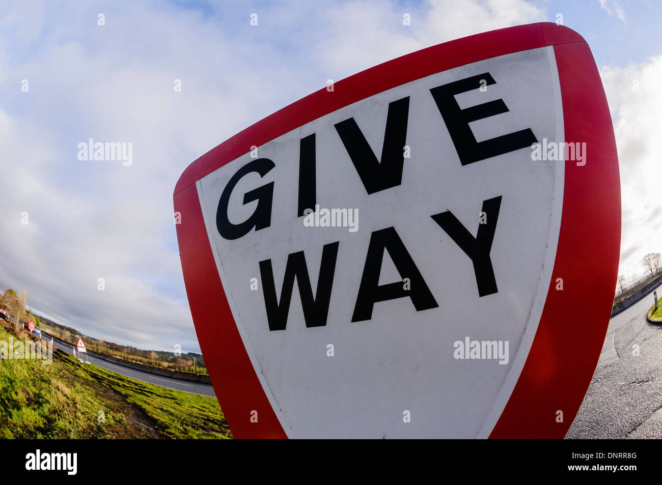 Weg-Zeichen geben Stockbild