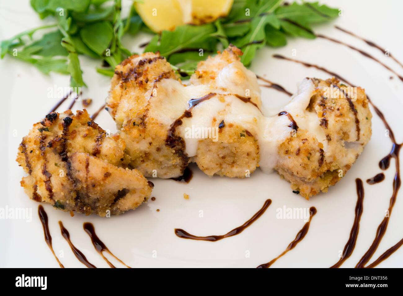 Sizilianischen Essen involtini Stockbild