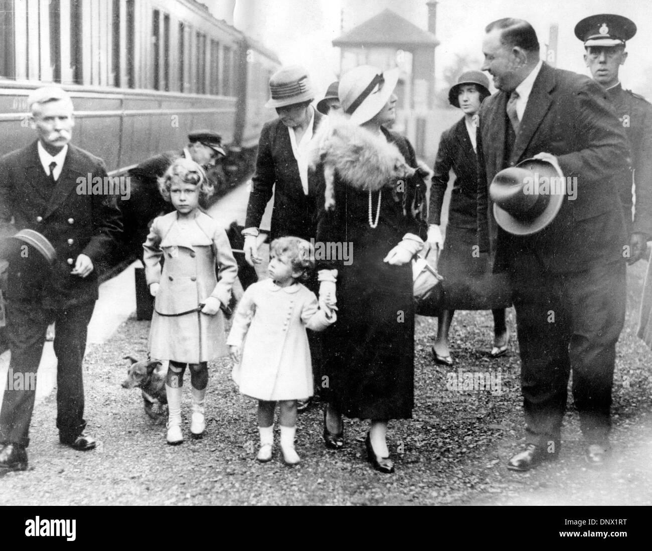 6. August 1933 - Glamis, Schottland, U.K - die Königin-Mutter, der ...