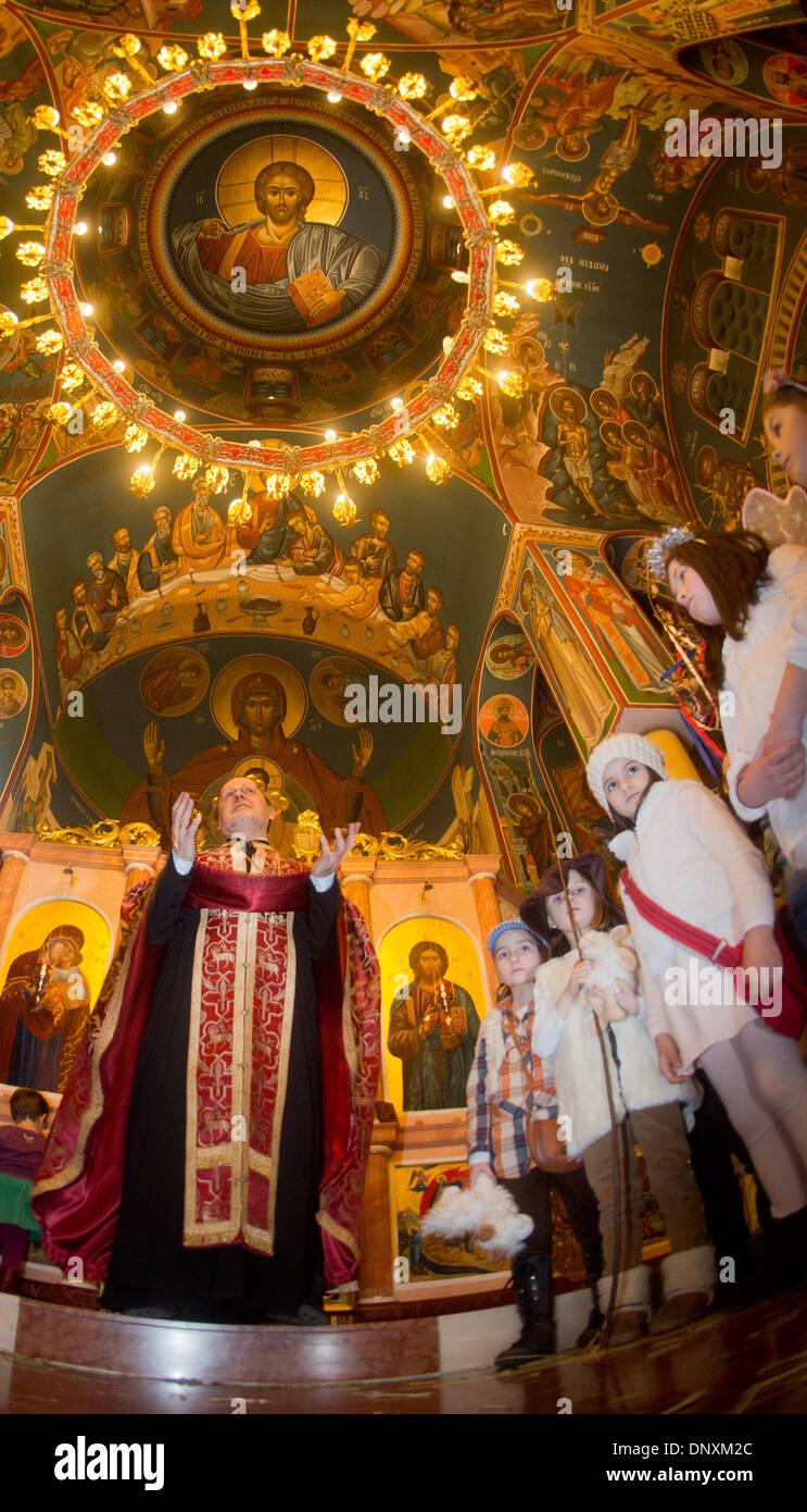 Orthodoxe Weihnachten.Serbisch Orthodox Weihnachten