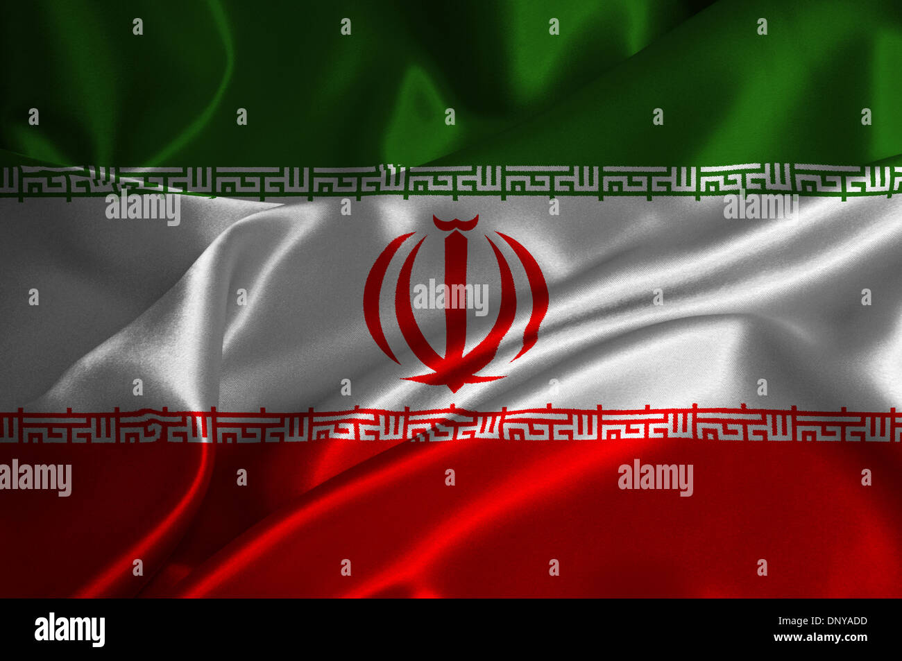 Flag Iran Iranian Banner On Stockfotos & Flag Iran Iranian Banner On ...