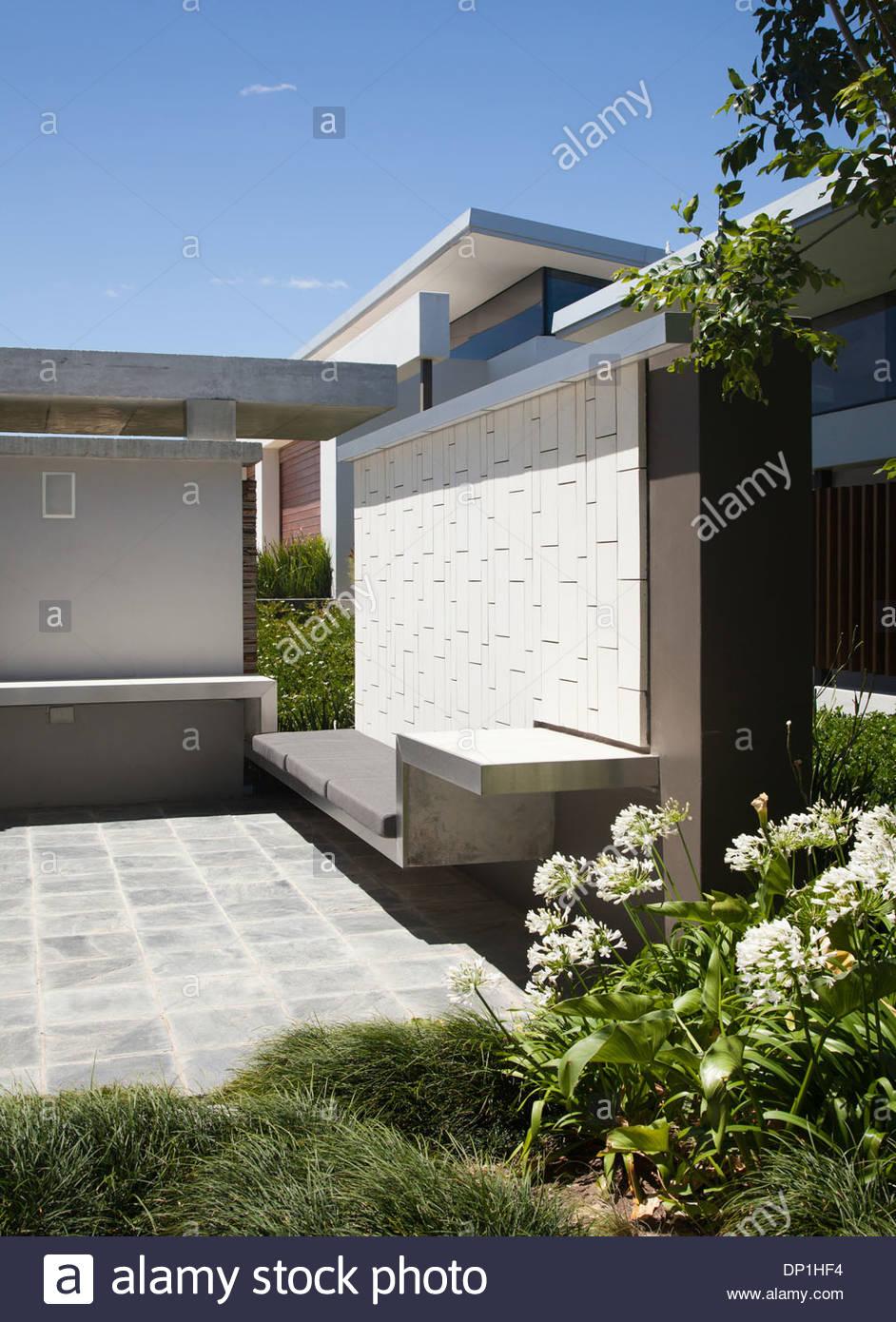 Terrasse im modern house Stockbild