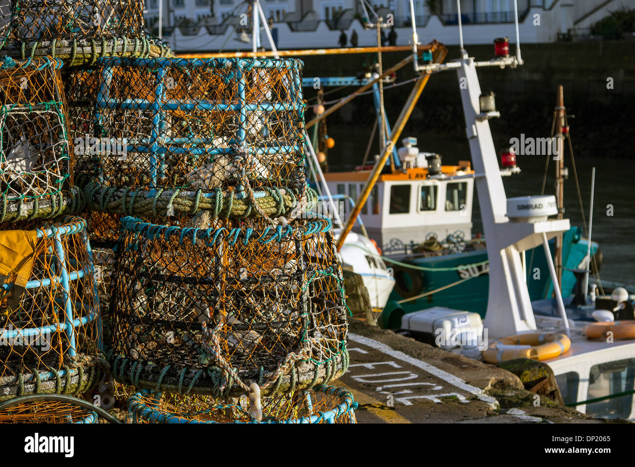 Hummer Töpfe Hummer Töpfe Brixham Trawler Flotte Brixham Hafen