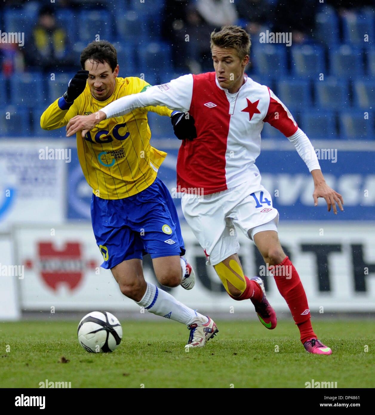 Datei Foto *** tschechischer Fußballspieler Ondrej Petrak von tschechischen Liga-Fußball-Team SK Slavia Stockbild