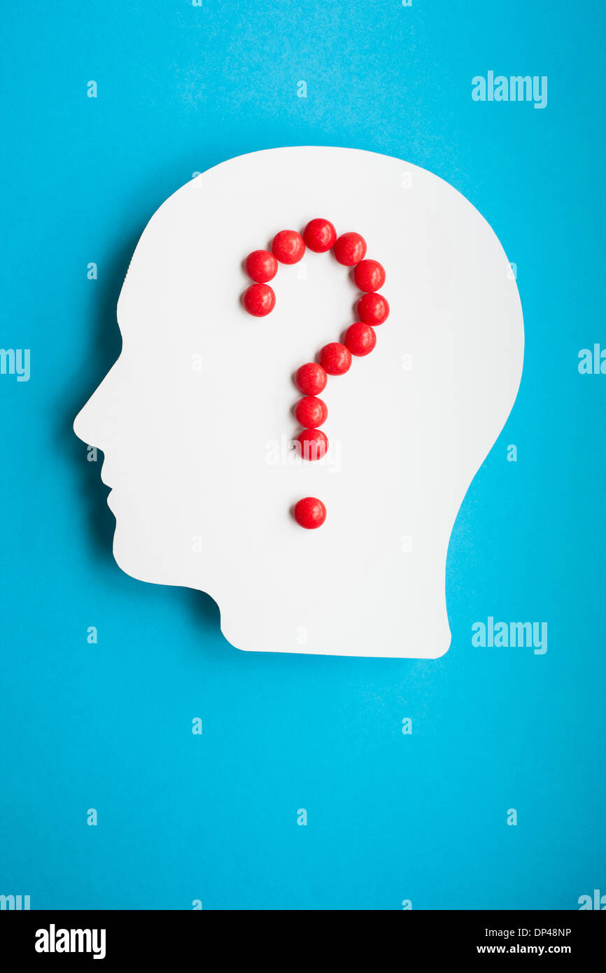 Gehirn Drogen, Konzeptbild Stockfoto
