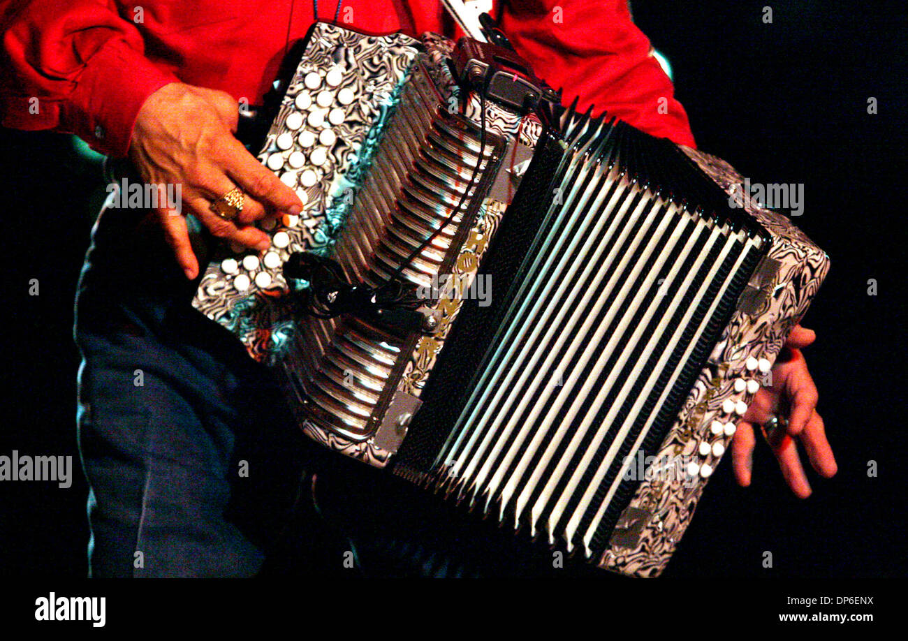 13. Oktober 2006; San Antonio, TX, USA; Eine Conjunto und Cajun-Kick-Off Party im Arneson River Theater mit Mingo Stockfoto