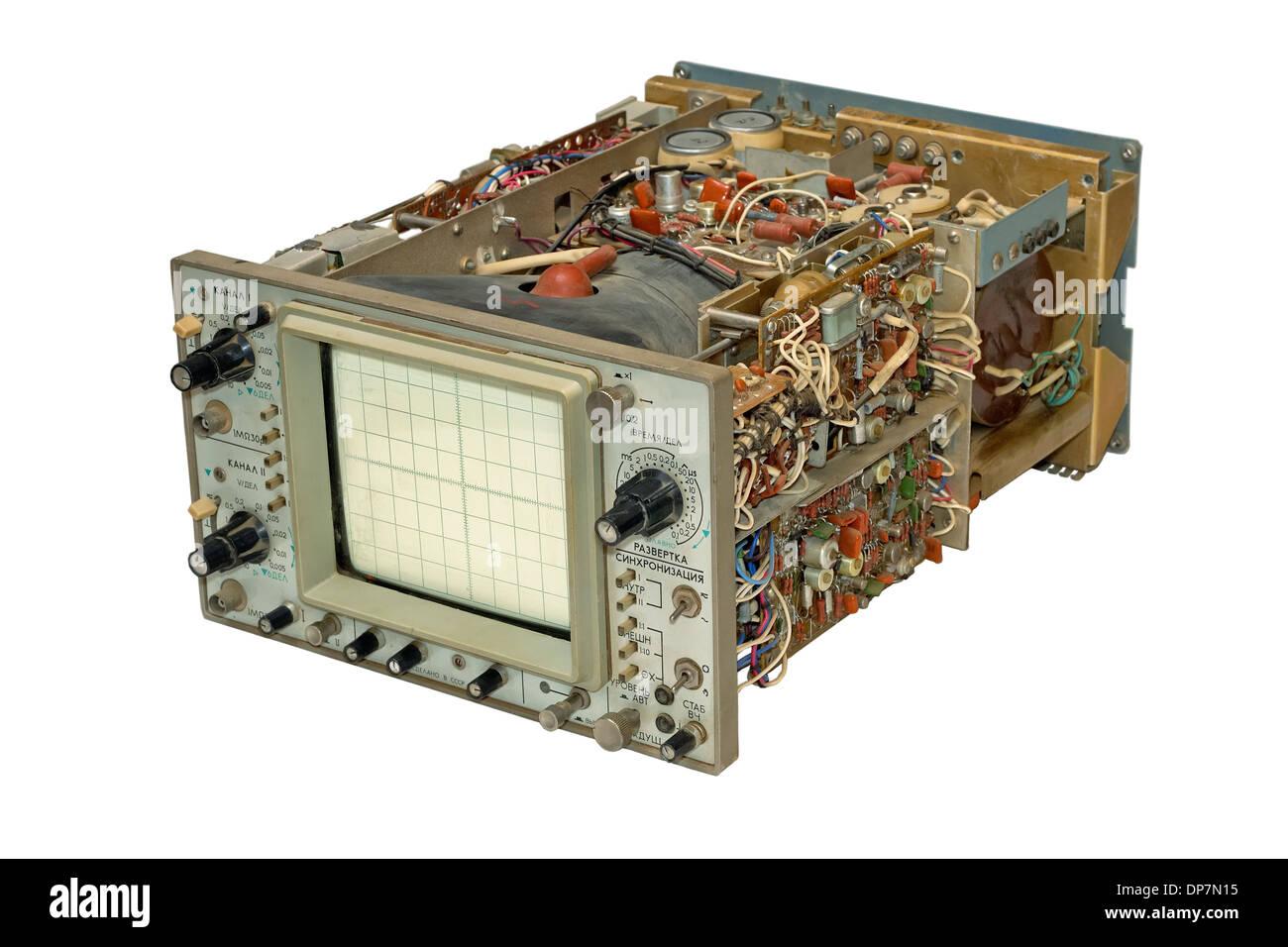 Oszilloskop, Messung, Ausrüstung, Gerät, elektrische, Objekte, Knopf ...