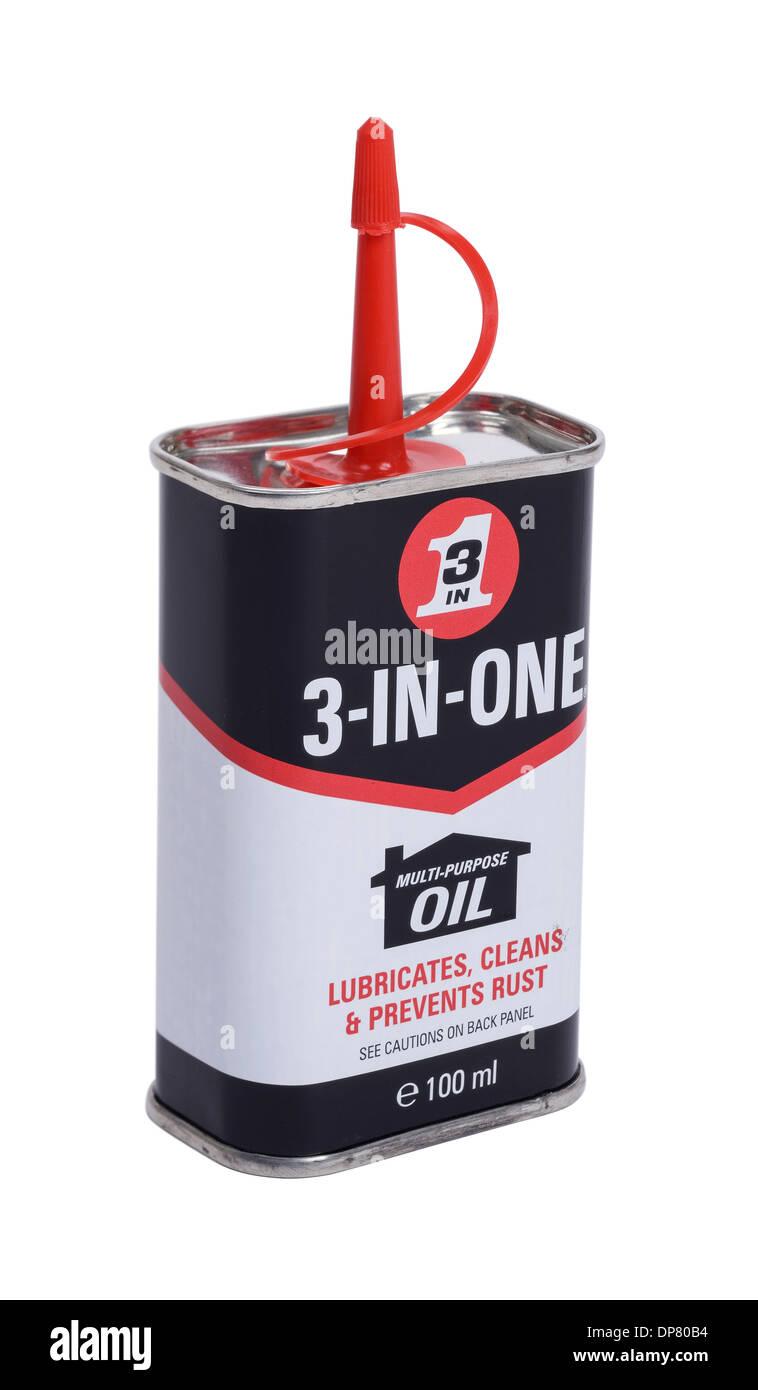 3 in 1 Schmieröl kann Stockbild