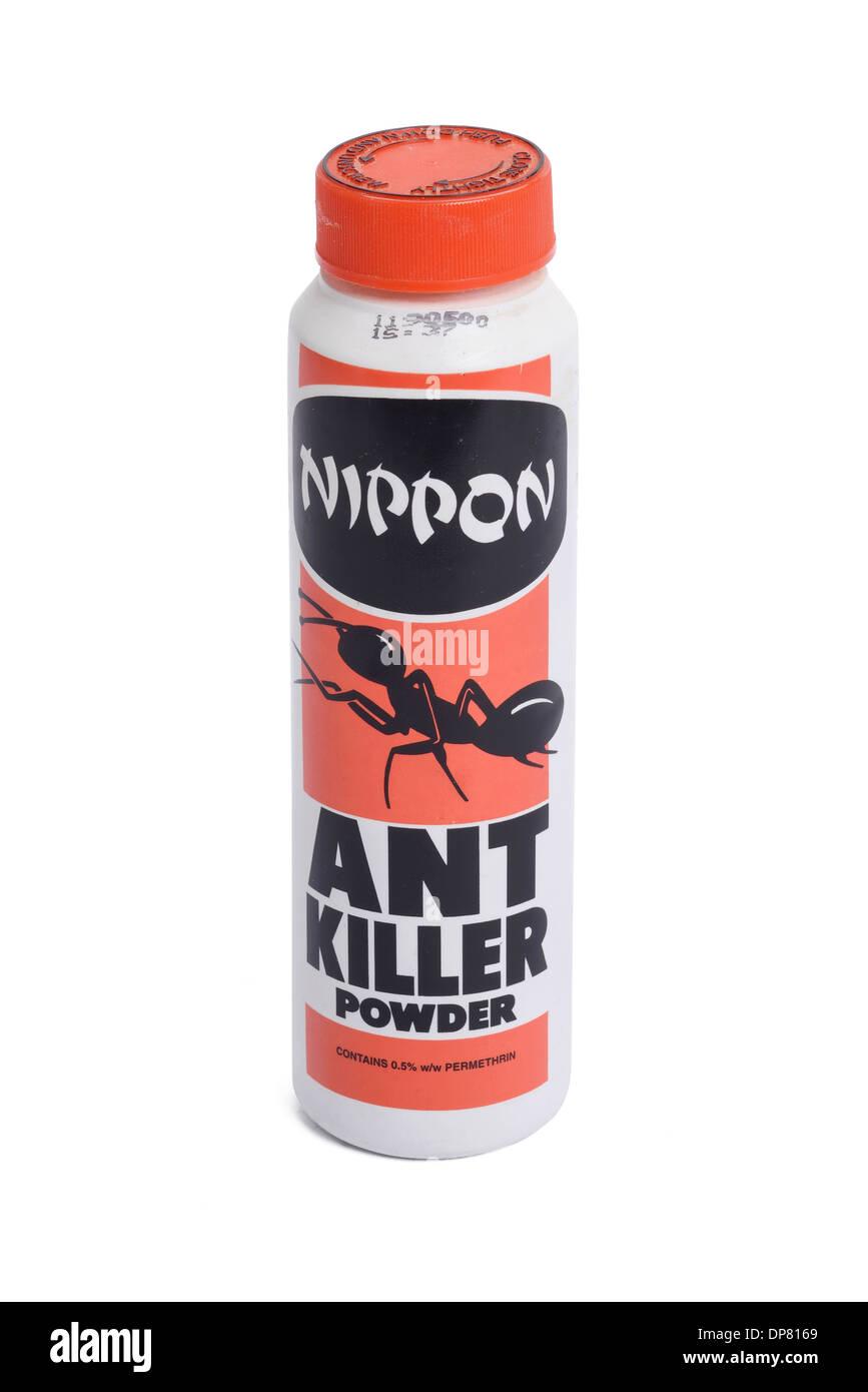 Kunststoffbehälter von Nippon Ant Killer Pulver Stockbild