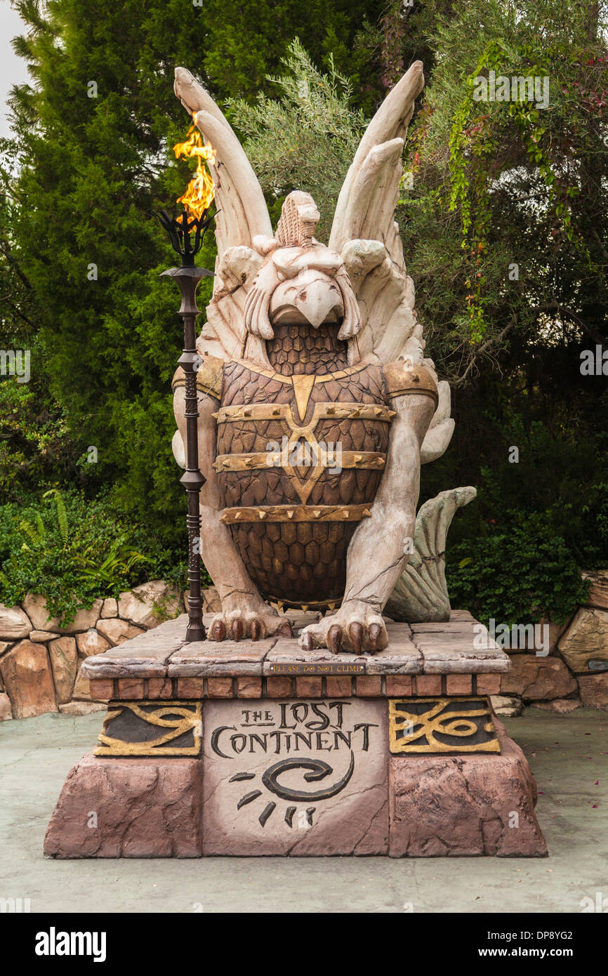 Statue in der verlorene Kontinent Islands of Adventure in den Universal Studios Florida Stockbild
