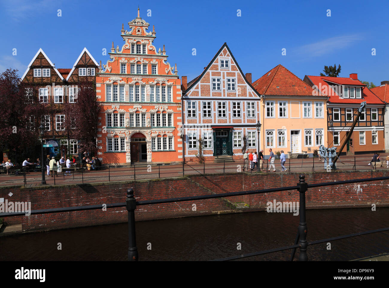 alten hafen in stade altes land niedersachsen deutschland europa stockfoto bild 65356573. Black Bedroom Furniture Sets. Home Design Ideas